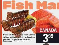 Frozen Lobster Tail - 2-3 Oz - Fresh Atlantic Salmon Portions Or Fresh Rainbow Trout Portions - 113 g
