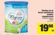 Similac Go & Grow Nutritional Todder Supplement - 850 g