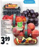 Fresh Ontario Baskets Peaches 3 L Blue Grapes 2 L Blue Plums .1.5 L Product Of Ontario - Canada No. 1 Grade Nectarines 2 L Product Of Ontario