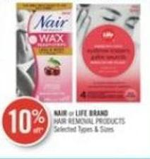 Nair or Life Brand Hair Removal Products