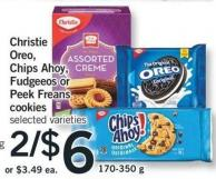 Christie Oreo - Chips Ahoy - Fudgeeos Or Peek Freans Cookies - 170-350 g