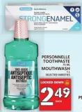 Personnelle Toothpaste 75 Ml Or Mouthwash 1 L