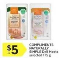 Compliments Naturally Simple Deli Meats Selected 175 g
