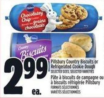 Pillsbury Country Biscuits or Refrigerated Cookie Dough