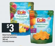 Dole Fruit Pouches - 382 mL
