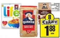 Quaker Oatmeal Or Oats Or Life Cereal