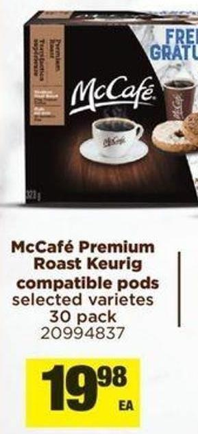 Coupon Is Redeemable At Mcdo Mccafé Premium Roast Keurig Compatible PODS - 30 Pack
