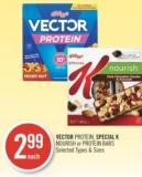 Vector Protein - Special K Nourish or Protein Bars