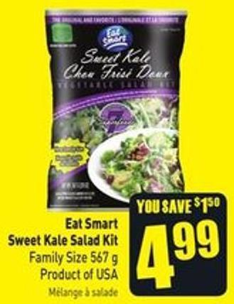 Eat Smart Sweet Kale Salad Kit Family Size 567 g Product of USA