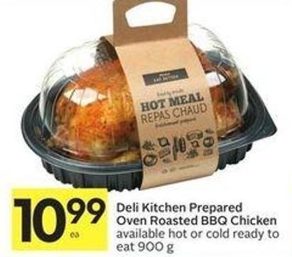 Deli Kitchen Prepared Oven Roasted Bbq Chicken Available Hot or Cold Ready To Eat 900 g