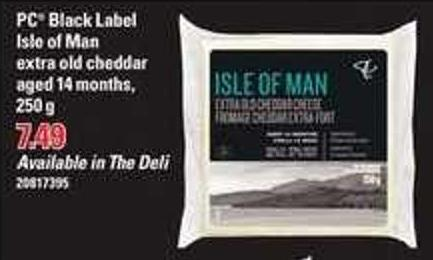 PC Black Label Isle Of Man Extra Old Cheddar Aged 14 Months - 250 G