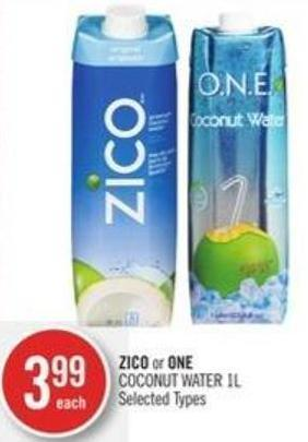 Zico or One Coconut Water 1l