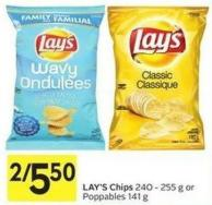 Lay's Chips 240 - 255 g or Poppables 141 g
