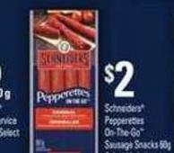 Schneiders Pepperettes On-the-go Sausage Snacks 60g