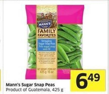 Mann's Sugar Snap Peas Product of Guatemala