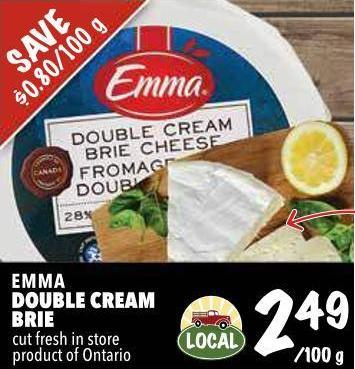 Emma Double Cream Brie