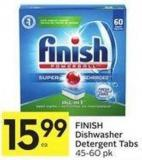 Finish Dishwasher Detergent Tabs 45-60 Pk