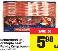 Schneiders - 375 G Or Maple Leaf Ready Crisp Bacon - 65 G