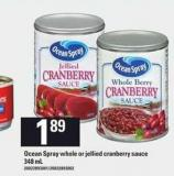 Ocean Spray Whole Or Jellied Cranberry Sauce - 348 mL