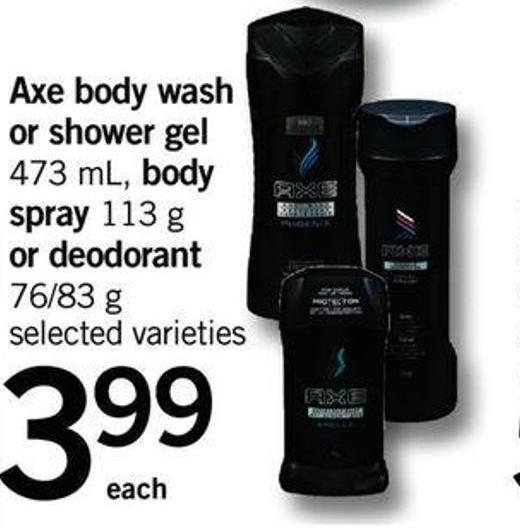 Axe Body Wash Or Shower Gel 473 Ml - Body Spray 113 G Or Deodorant 76/83 G