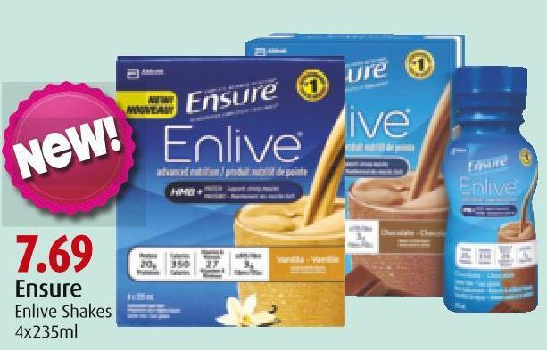 Ensure Enlive Shakes 4 X 235 ml