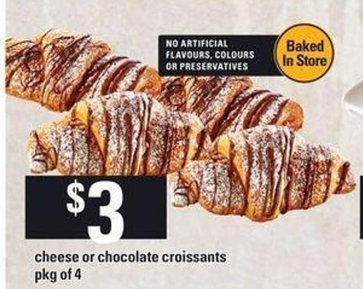 Cheese Or Chocolate Croissants.