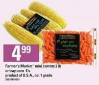 Farmer's Market Mini Carrots - 2 Lb Or Tray Corn - 4's.