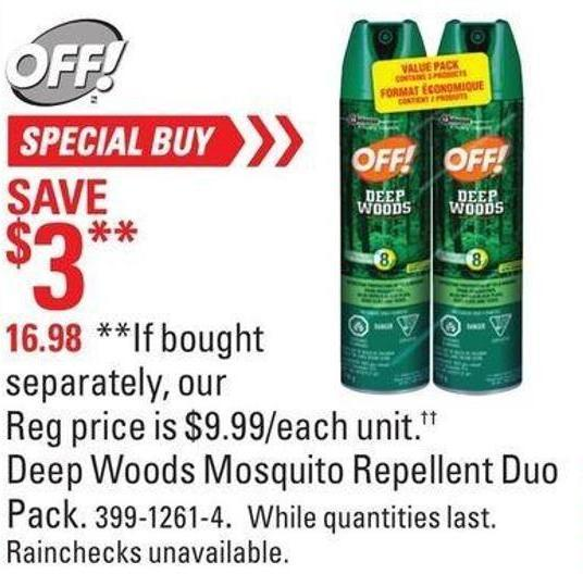 Off Deep Woods Mosquito Repellent Duo Pack