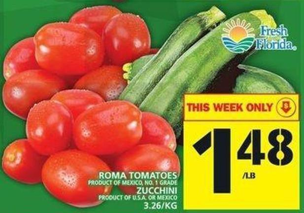 Roma Tomatoes Or Zucchini
