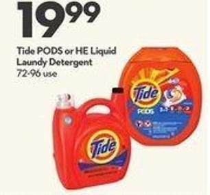 Tide PODS or HE Liquid Laundry Detergent