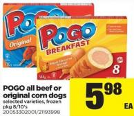 Pogo All Beef Or Original Corn Dogs - Pkg 8/10's