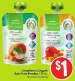 Compliments Organic Baby Food Pouches 128 mL
