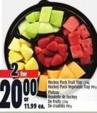 Hockey Puck Fruit Tray