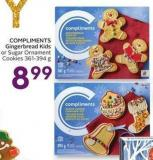 Compliments Gingerbread Kids or Sugar Ornament Cookies 361-394 g