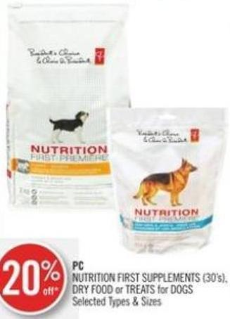 PC Nutrition First Supplements (30's) - Dry Food or Treats For Dogs
