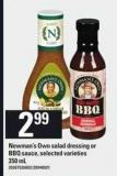 Newman's Own Salad Dressing Or Bbq Sauce - 350 mL
