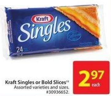 Kraft Singles or Bold Slices