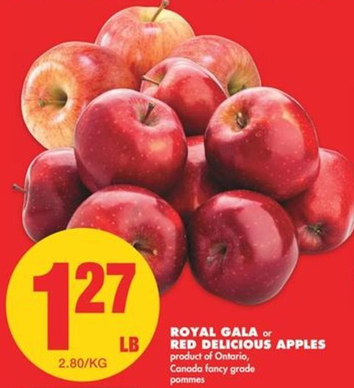 Royal Gala or Red Delicious Apples