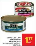 Clover Leaf Core or Flavoured Skipjack Tuna
