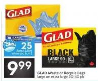 Glad Waste or Recycle Bags - 25 Air Miles Bonus Miles