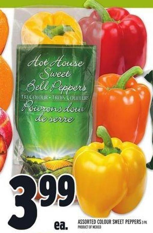 Assorted Colour Sweet Peppers
