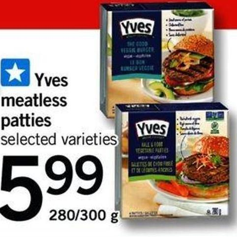 Yves Meatless Patties - 280/300 g