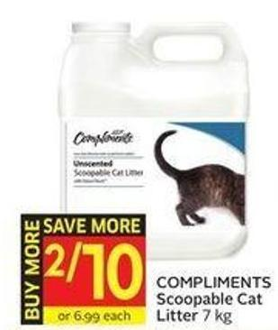 Compliments Scoopable Cat Litter 7 Kg