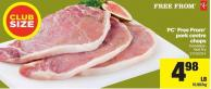 PC Free From Pork Centre Chops