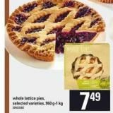 Whole Lattice Pies - 960 G-1 Kg
