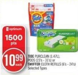 Tide Purclean (1.47l) - PODS (23's - 31's) or Swiffer Cloth Refills (6's - 24's)