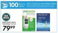 Onetouch Verio Test Strips - 100 Air Miles