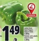 Jumbo Green Sweet Peppers