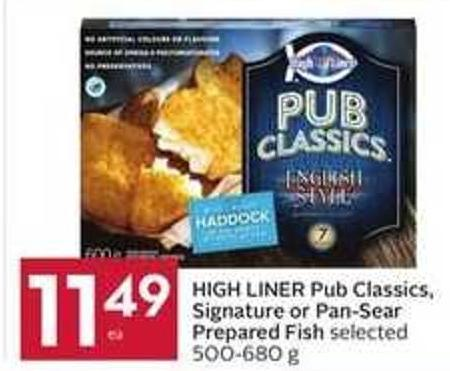 High Liner Pub Classics - Signature or Pan-sear Prepared Fish