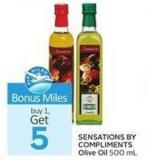 Sensations By Compliments Olive Oil 500 mL - Air Miles Bonus Miles